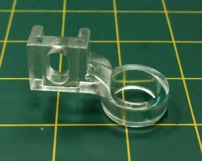 Clear plastic ruler foot,  fits most universal low shank machines