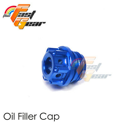 CNC Blue Oil Filler Cap Plug with O-Ring For Suzuki GSR 600 750 06-15 13 14