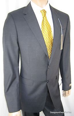 3dda30316 KENNETH COLE Select $499 Suit New Mens 42L 2Btn Charcoal Slim Fit NWT