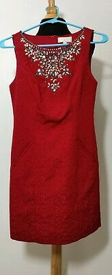 Nwot Anthropologie Moulinette Soeurs Toulouse Embellished Shift Dress Sz 0 198