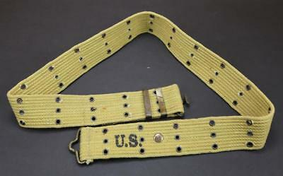 Repro US M1936 Khaki Canvas Web Pistol Holster / Army Canteen Duty Military Belt