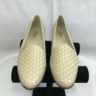 Loafers 11s 58 On Womens Slip Woven Tan Bone Liz Shoes Leather Trotters mIb7ygvfY6