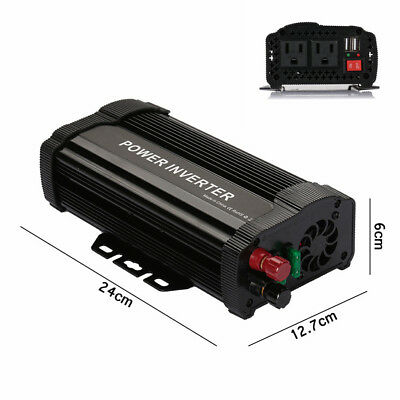 1000W Peak Car SUV Solar Power Inverter Modified Sine Wave Converter Transformer