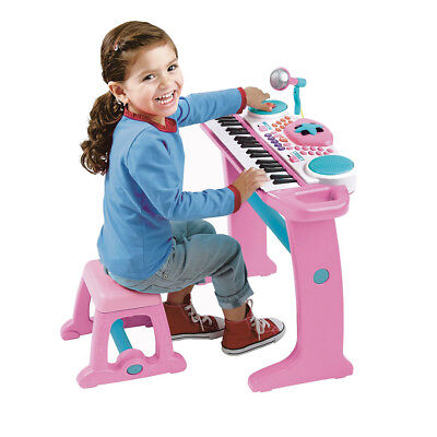 Bruin Light Up Pink Keyboard With Stool