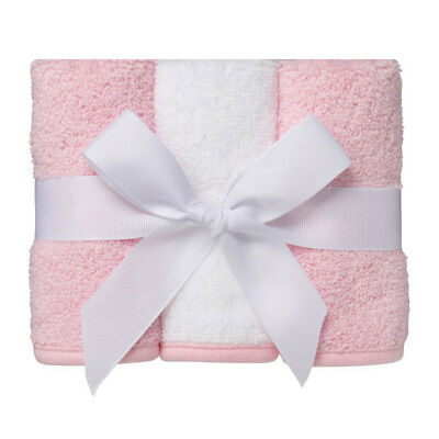 Home Facewashers in White/Pink