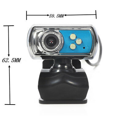 USB Clip-on Webcam Camera HD 12.0 MP 3 LED with MIC Night Vision for Computer UK