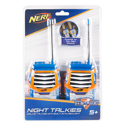 NERF Moulded Walkie Talkies With Built-in Flashlight