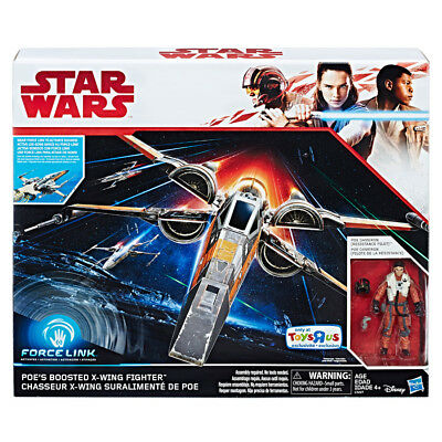 Star Wars Force Link Poe's Boosted X-Wing & Figure