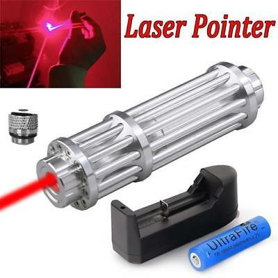 Military 1 W Red Laser Pointer Pen 650nm Visible Beam Light Laser +18650+Charger