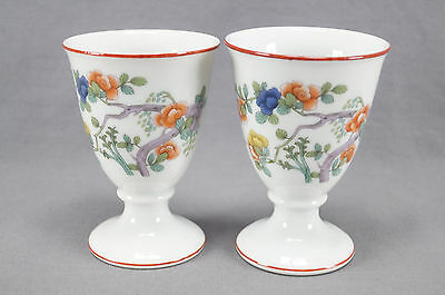 Rare Pair of Rosenthal Indian Tree Pattern Porcelain Wine Goblets C 1920 - 1930s