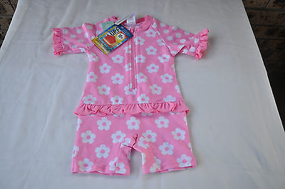 Baby Girls Swimmers Size 6-12 Months Pink With White Spots Bnwt