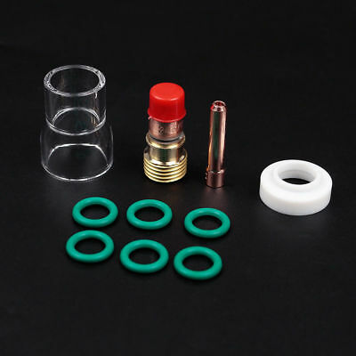 10x TIG Welding Torch Stubby Gas Lens #12 Pyrex Cup Kit for WP-17/18/26 UK