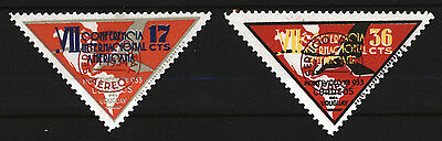 Uruguay 1934 Air Mail 7th Pan-American Conference Sc C61 C62 Yvert 80-81 MM
