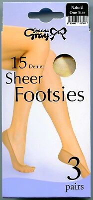Footsies by Joanna Gray ~ 3pp ~ Natural ~ no show shoe liners ~ Shoe size 3-8