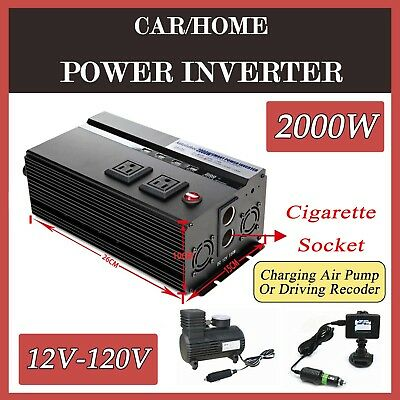 2000W High Power SUV Car Inverter Adapter AC110V Cigarette Socket 4000W Peak New