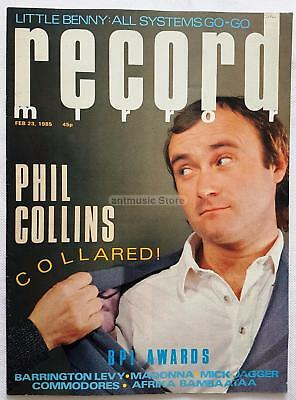 Phil Collins Madonna Mick Jagger Commodores Little Benny Record Mirror