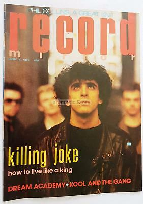 Phil Collins Killing Joke Dream Academy Cool And The Gang Record Mirror