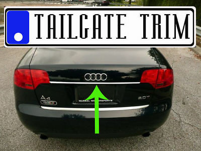 Chrome TRUNK TRIM Tailgate Molding Kit for audi 2003-2012