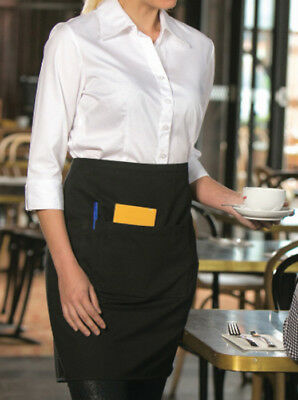 Short Waist Plain Aprons I With Pocket including Pen pocket