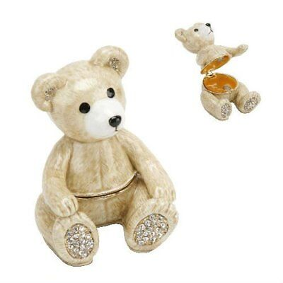 Teddy BEAR Trinket Box / Ornament Gift *NEW* Boxed