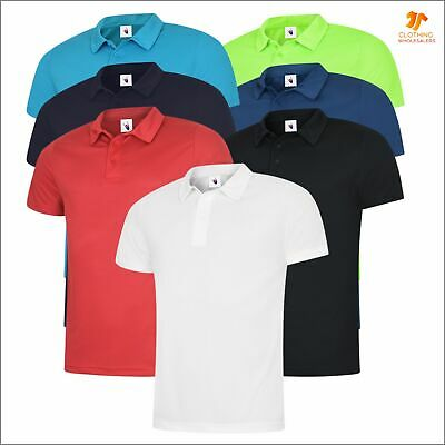 Mens Ultra Cool Polo shirt Soft Light Polyester Breathable Sports All Day Casual