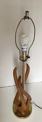 Vintage Mid Century Danish Modern Eames lamp Missing 1 Sculptural Wood Piece