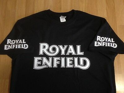 Royal Enfield Motorcycles (Vintage Logo x 4) - Colour T-shirts - print options