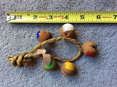 Vintage Japanese Ring Of Clay Pottery Bells