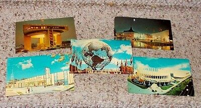 Lot Of 9 1964-1965 New York Worlds Fair Postcards