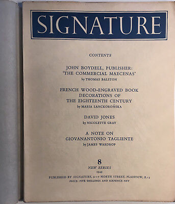 Oliver Simon: Signature 8 (New Series) 1949 Typography and Graphic Arts