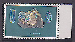 SG 117a Minerals 3/- Aquamarine missing Gold