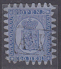 Michel 8C 20p blue on blue Used