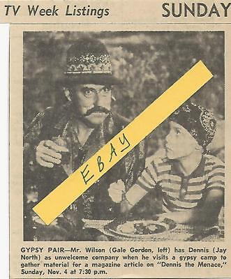 1962 Dennis The Menace Tv Guide Ad Article Clipping  Jay North Mr. Wilson