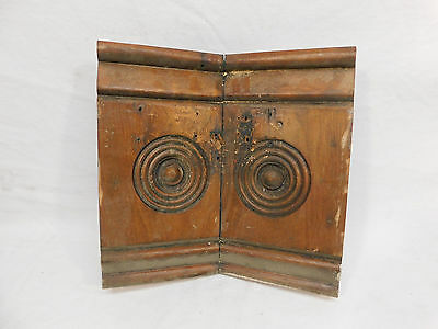 Antique Bay Window Rosette Plinth Block - 1885 Butternut Architectural Salvage