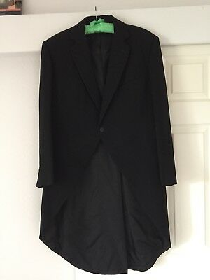 Mens Formal Black  Morning Tail Coat 100% Pure New Wool