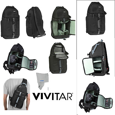 Camera Sling Backpack Bag for Canon Nikon Sony DSLR Mirrorless by VIVITAR Photo