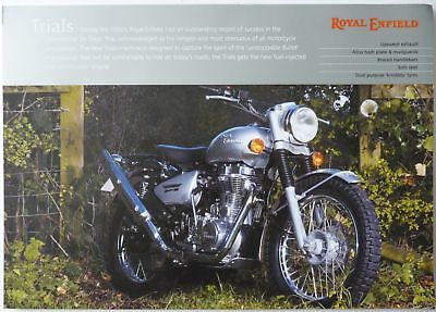 Royal Enfield Bullet 500cc  Trials Sales Brochure
