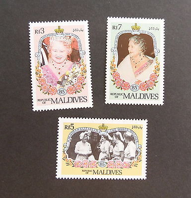 Maldives 1985 Queen Mother 85th Birthday set MNH unmounted mint never hinged