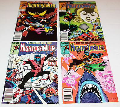 Nightcrawler #1,2,3,4--Complete 1985 Limited Series--Marvel Comic Book-Nice Set
