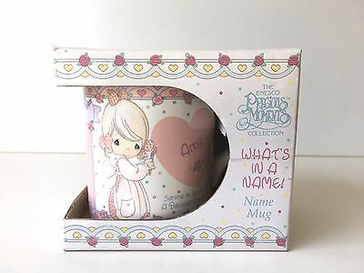 Precious Moments Collection Personalized Whats in a Name Mug AMY Mug Cup Enesco