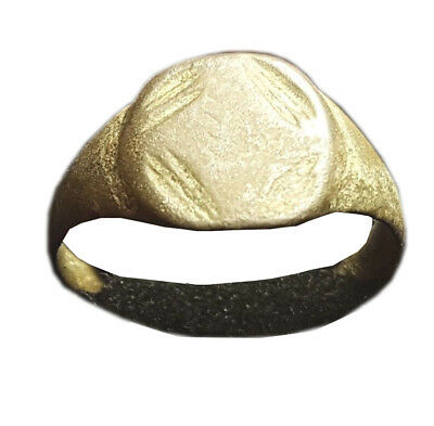 Ancient Late Roman Bronze Ring 300-400 AD - SIZE 20mm             #P248