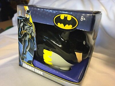 BATMAN CERAMIC Piggy BANK DC WB FAB NY 3.4 Inches L X 2.9 Inches H 2.6 D NIB