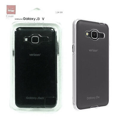 Verizon Cover Durable Impact Protection Case for Samsung Galaxy J3 V6 - Clear