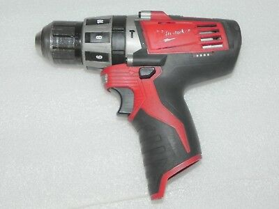 "Milwaukee 2411-20 Cordless 3/8"" Hammer Drill M12 * SOLD AS-IS PARTS * FREE SHIP"