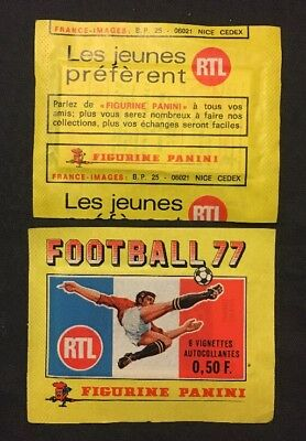 Bustina Pochette Packet Sealed Panini  France Championnat Foot Football 77 1977