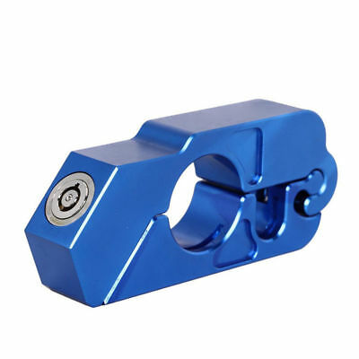 Blue Motorcycle Handlebar Grip Brake Lever Lock Anit Theft Security Caps-Lock
