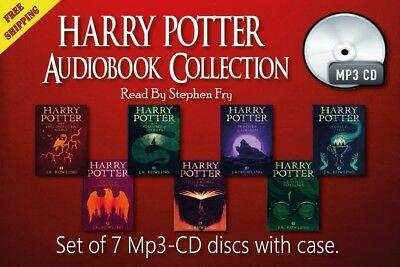 Collection of 7 audiobooks Harry Potter Series CD-Mp3 Unabridged by Stephen Fry