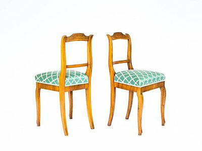 Pair of French 19th Century Walnut Chairs