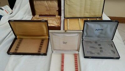 Vintage/antique Cutlery/jewellery Boxes Empty Job Lot Of 5