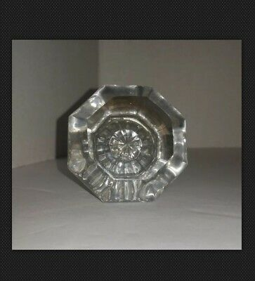 ANTIQUE Vintage DOOR KNOB Single Hardware 8 Pt Clear GLASS